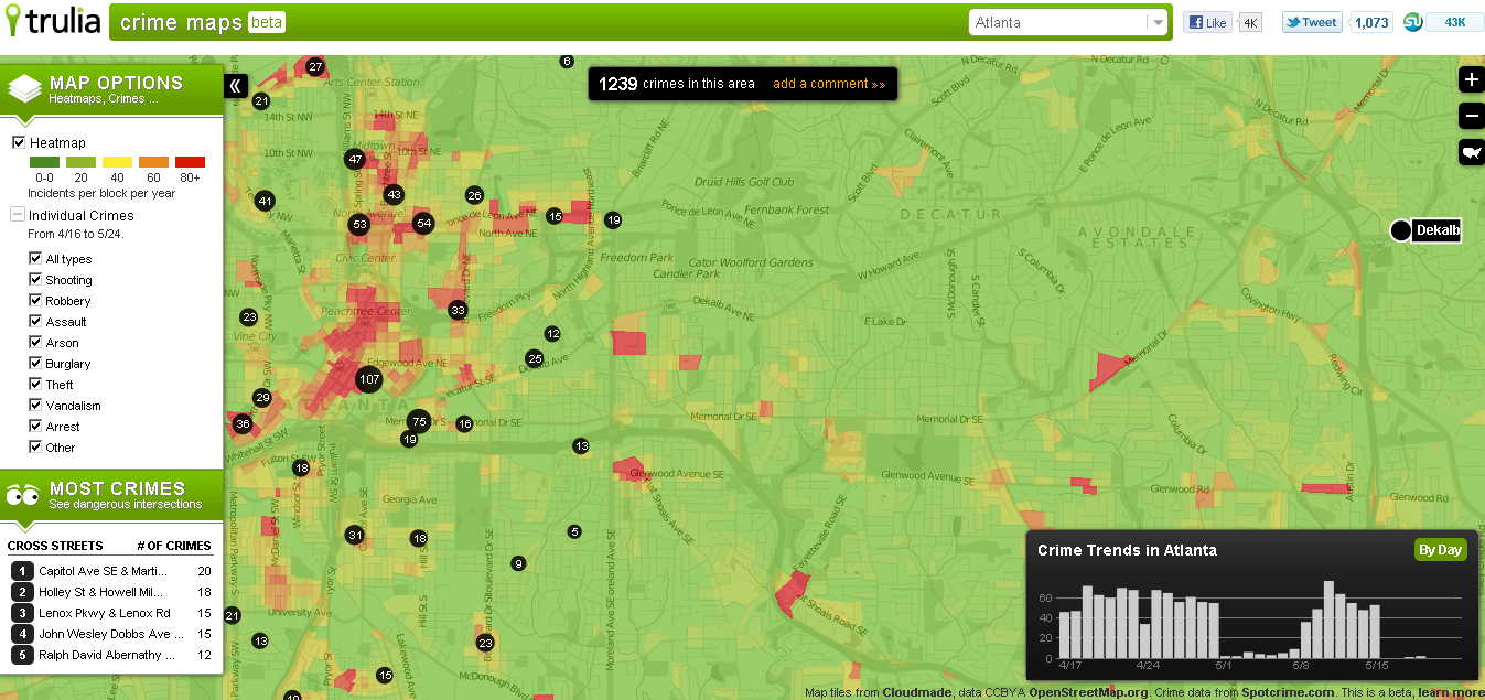 Interactive Crime Map Roost Realty